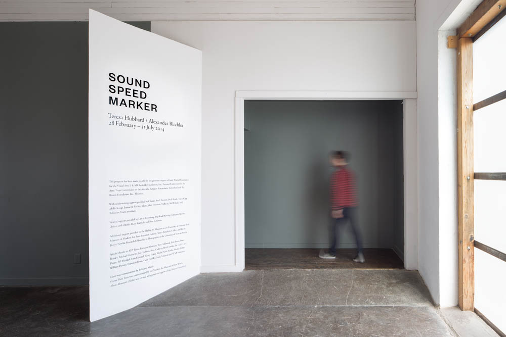 Sound Speed Marker, Installation view, Ballroom Marfa, 2014 Photo: Frederik Nilsen