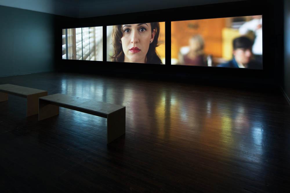 Installation view, Ballroom Marfa, Sound Speed Marker Photo: Frederik Nilsen