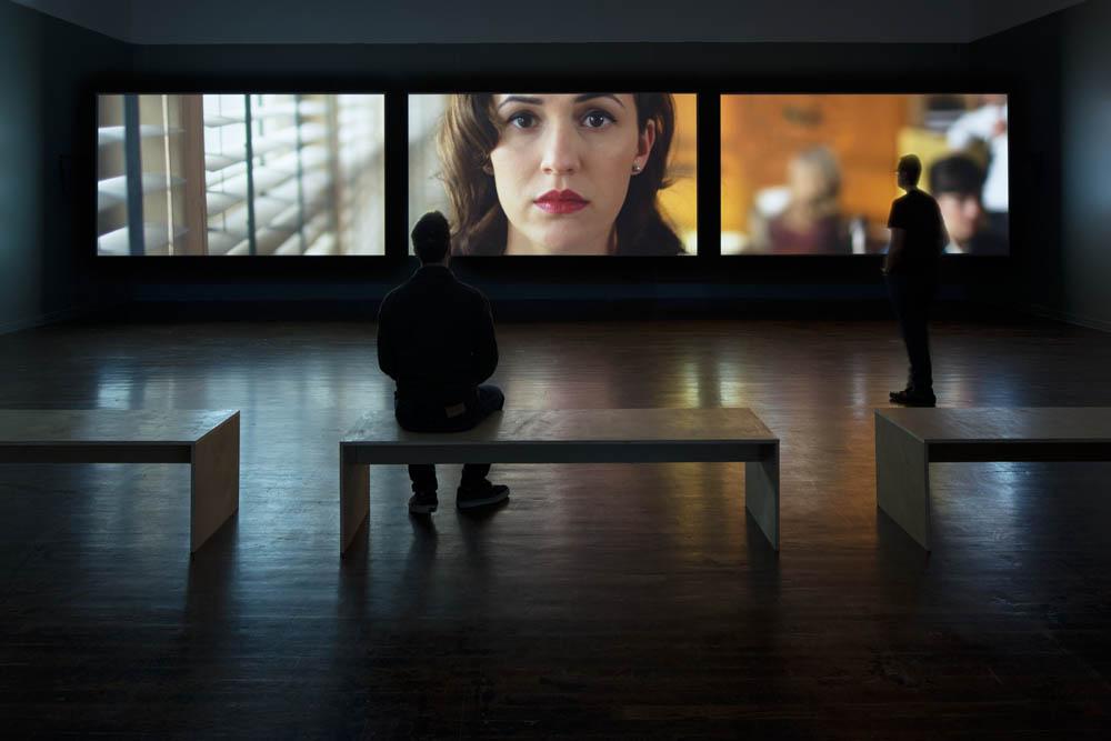 Installation view, Ballroom Marfa, Sound Speed Marker. Photo: Frederik Nilsen